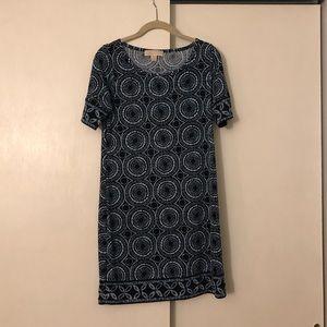 Michael Kors Navy and White knee length dress